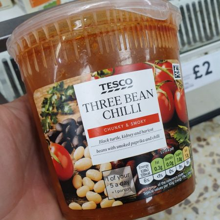 Tesco 3 Chilli Bean Soup 600G