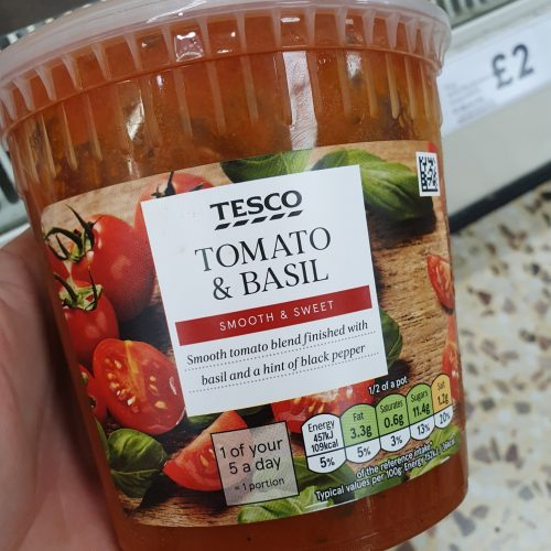 Tesco Tomato & Basil Soup 300G