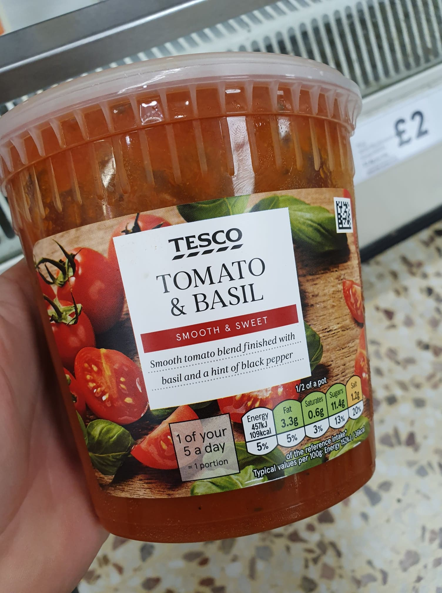 Tesco Tomato Basil Soup 300g Vegan Food Uk