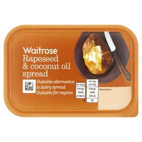 Waitrose Rapeseed & Coconut Oil Spread 250g