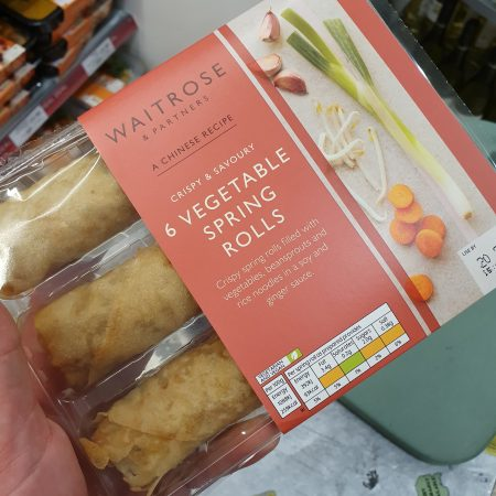 Waitrose 6 vegetable spring rolls