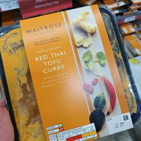 Waitrose Red Thai Tofu Curry