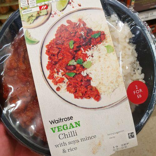 Waitrose Vegan Chilli with Soya Mince & Rice