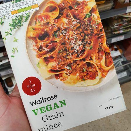 Waitrose Vegan Grain Mince