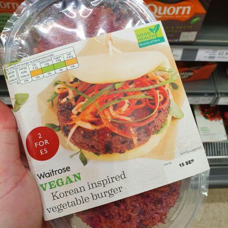 Waitrose Vegan Korean Inspired Vegetable Burger 227g