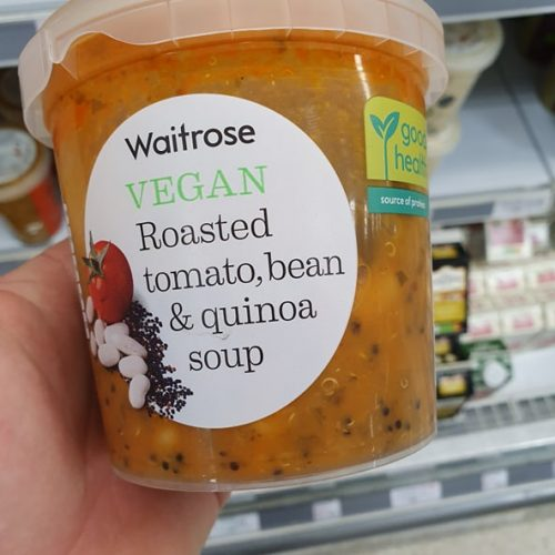 Waitrose Vegan Roasted Tomato, Bean & Quinoa Soup400g