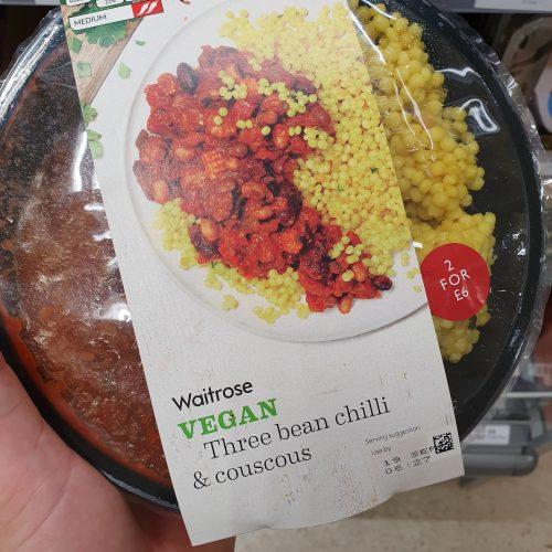 Waitrose Vegan Three Bean Chilli & Cous Cous