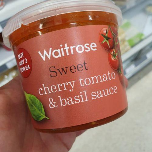 Waitrose cherry tomato & basil sauce