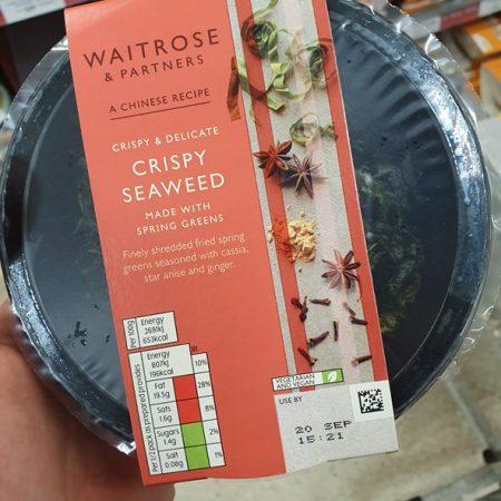 Waitrose crispy seaweed 60g