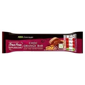 ASDA Chosen By You Gluten & Dairy Free Chocolate Orange Bar
