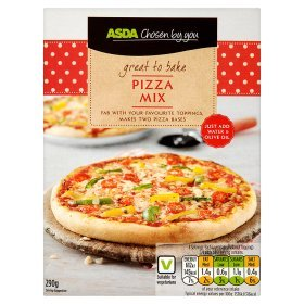ASDA Chosen By You Home Baking Pizza Base Mix