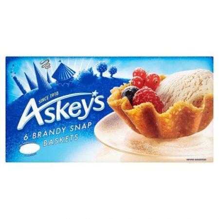 Askeys 6 Brandy Snap Baskets 150g