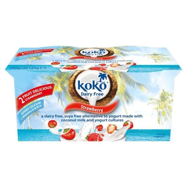 Koko Dairy Free Yogurt Alternative Strawberry 2 x 125g