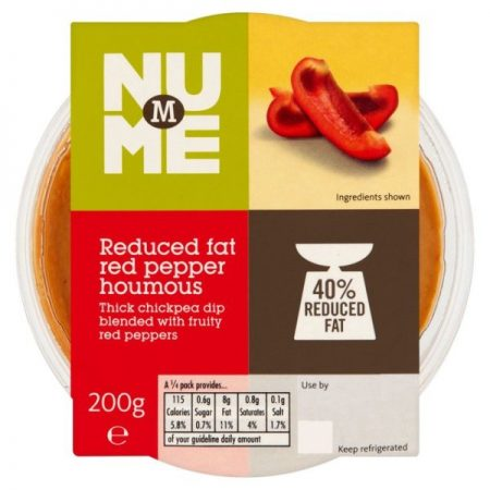 M NuMe Reduced Fat Red Pepper Houmous 200g
