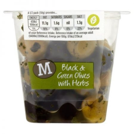 Morrisons Black & Green Olives with Herbs 100g