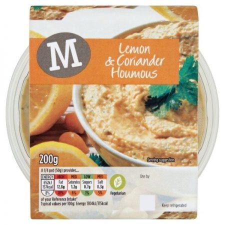 Morrisons Lemon & Coriander Houmous 200g