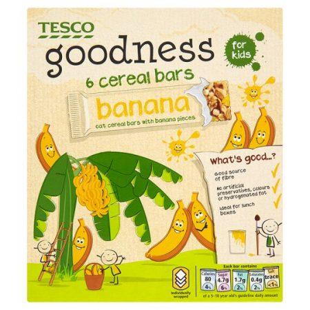 Tesco Goodness Banana Cereal Bar 6 Pack