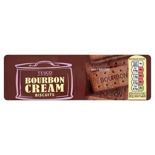 Tesco Bourbon Cream Biscuits 200g