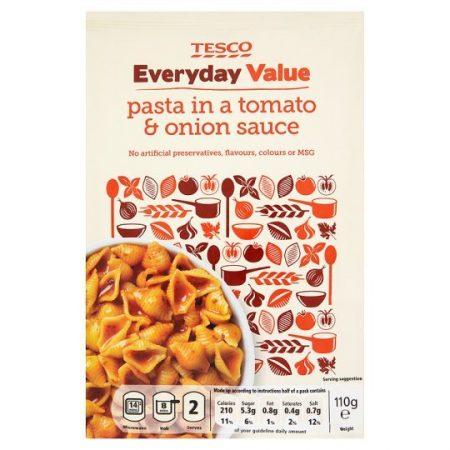 Tesco Everyday Value Tomato And Onion Pasta 110g