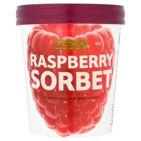 Tesco Raspberry Sorbet 500Ml