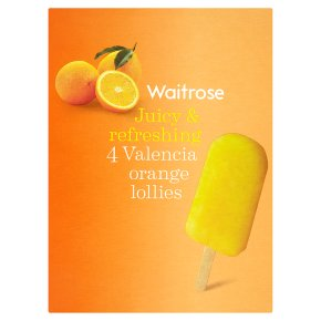 Waitrose 4 Valencia orange lollies 4x73ml