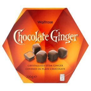 Waitrose chocolate ginger 200g