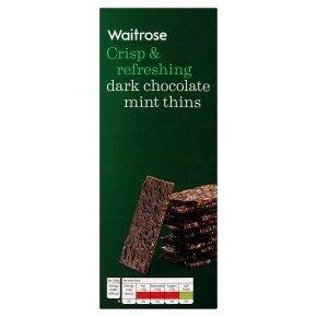 Waitrose chocolate mint thins 200g