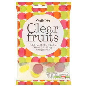 Waitrose clear fruits 225g