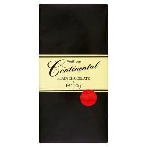 Waitrose continental plain chocolate 100g