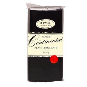 Waitrose Continental Plain Chocolate 2x200g
