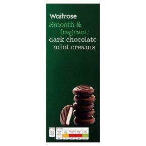 Waitrose dark chocolate mint creams 200g