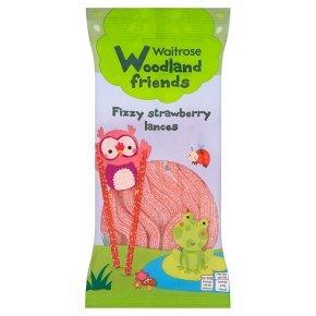 Waitrose fizzy strawberry laces 100g