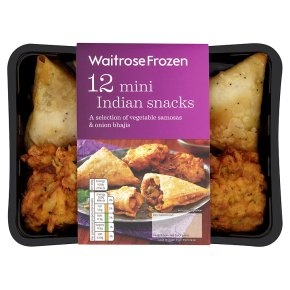Waitrose Frozen 12 mini Indian snacks 282g