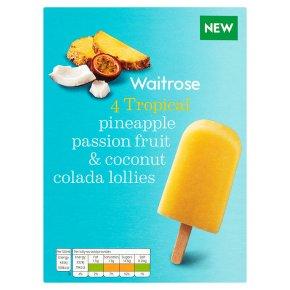 Waitrose pineapple & coconut colada lollies 4x73ml