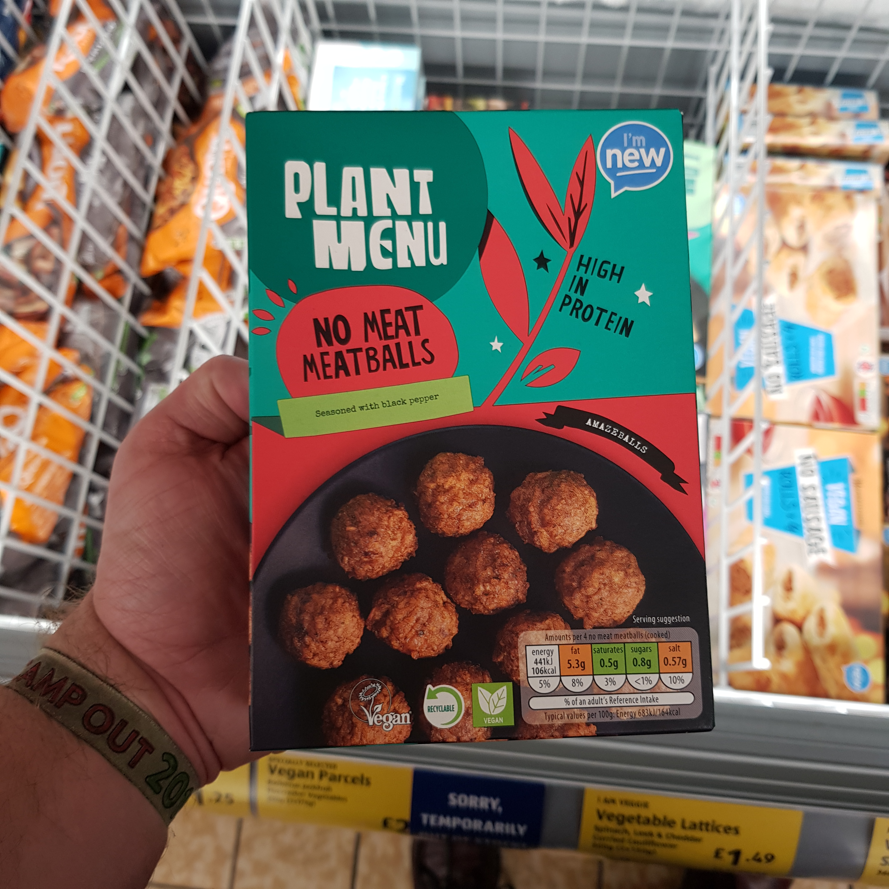 plant menu - no meat meatballs   vegan food uk