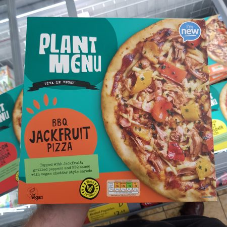 Plant Menu BBQ Jackfruit Pizza