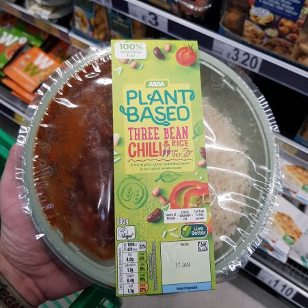 Plant Based Three Bean Chilli