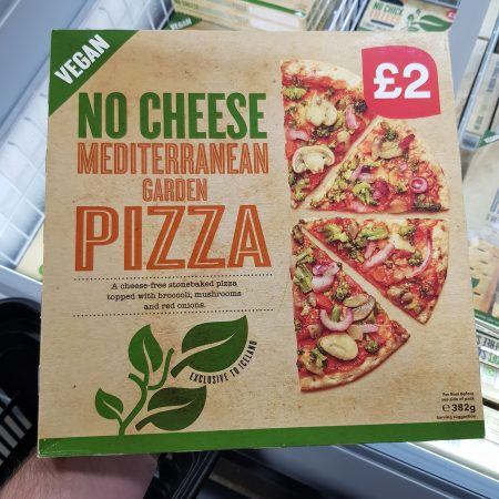 No Cheese Mediterranean Garden Pizza