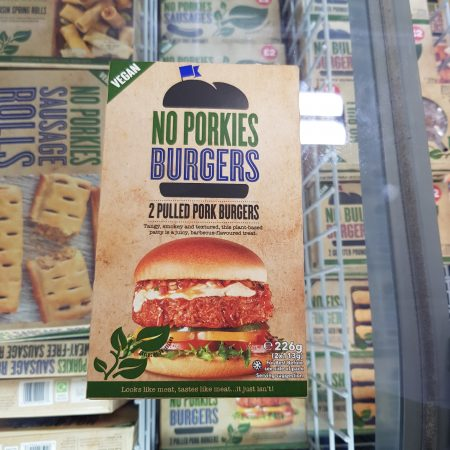 No Porkies Burgers – 2 Pulled Pork Burgers