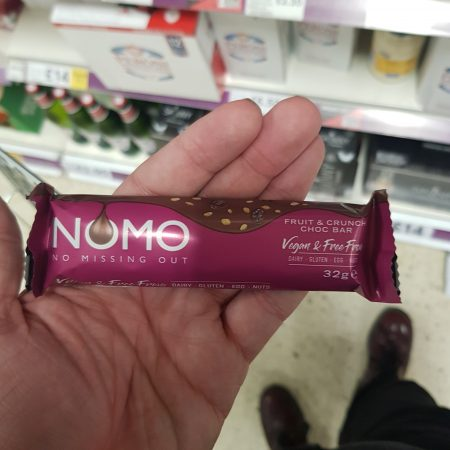 NOMO Fruit & Crunch Choc Bar 32g