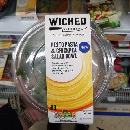 Wicked Pesto Pasta & Chickpea Salad Bowl