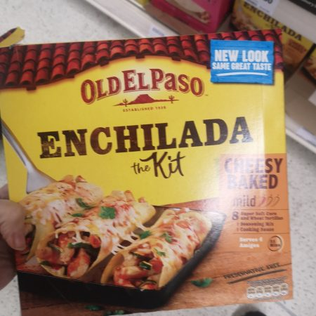 Old El Paso Cheesy Baked Enchilada Dinner Kit 663g
