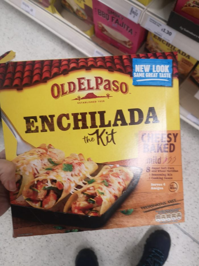 Old El Paso Cheesy Baked Enchilada Dinner Kit 663g