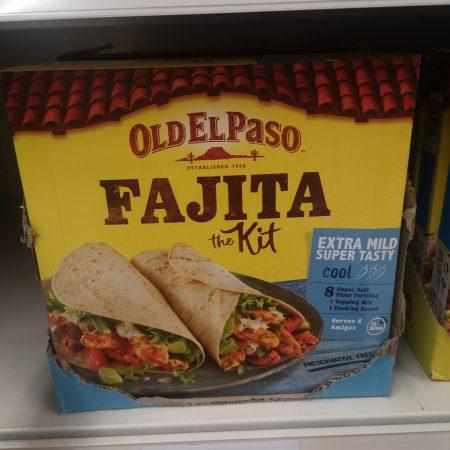 Old El Paso Extra Mild Fajita Dinner Kit 476G