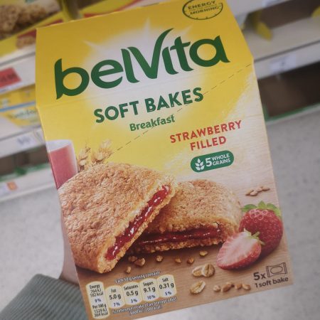 BelVita Breakfast Biscuits Bars Soft Bakes Strawberry Filled 5x50g