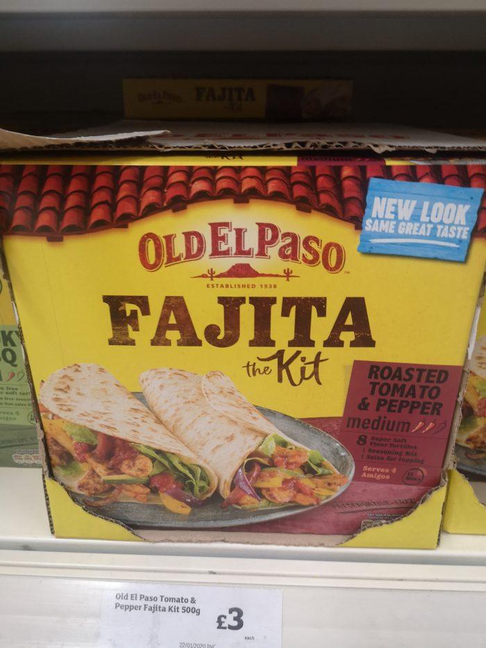 Old El Paso Roasted Tomato & Pepper Fajita Kit 500g