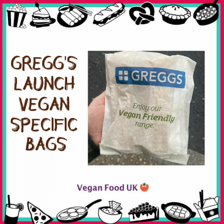 New Vegan Specific Paper Bags Launch at Greggs
