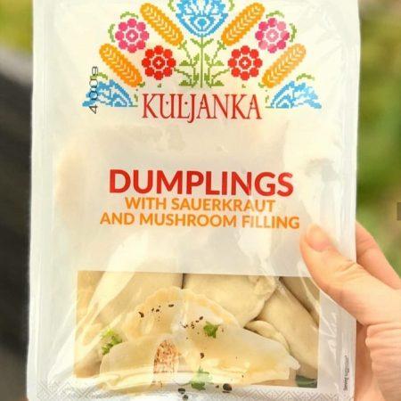 Dumplings With Sauerkraut and Mushroom Filling