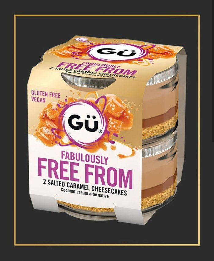 Gu Fabulously Free From 2 Salted Caramel Cheesecakes