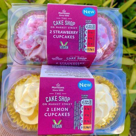 Morrisons Cake Shop 2 Lemon Cupcakes